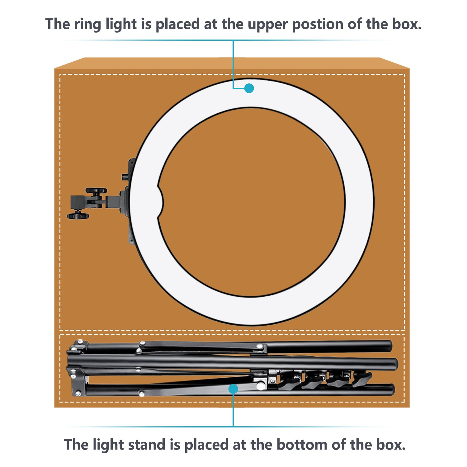 Neewer Camera Photo Video Lightning Kit 18 Inches 48 Centimeters Atlas Wiring Diagrams Dimmable Led Outer 55w 5500k Ring Light Stand Bluetooth Receiver For Smartphone
