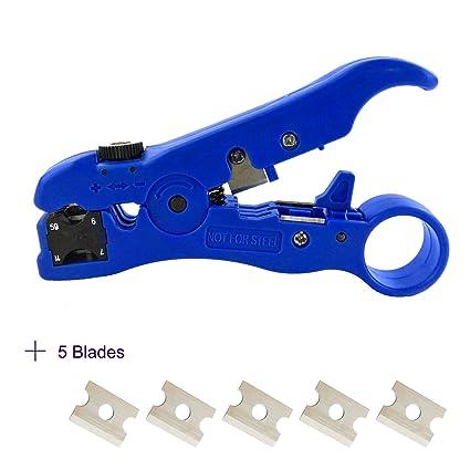 Universal cable para desmontar herramientas cortadores de Cable, pelacables, cable coaxial Strippers multifunciones para