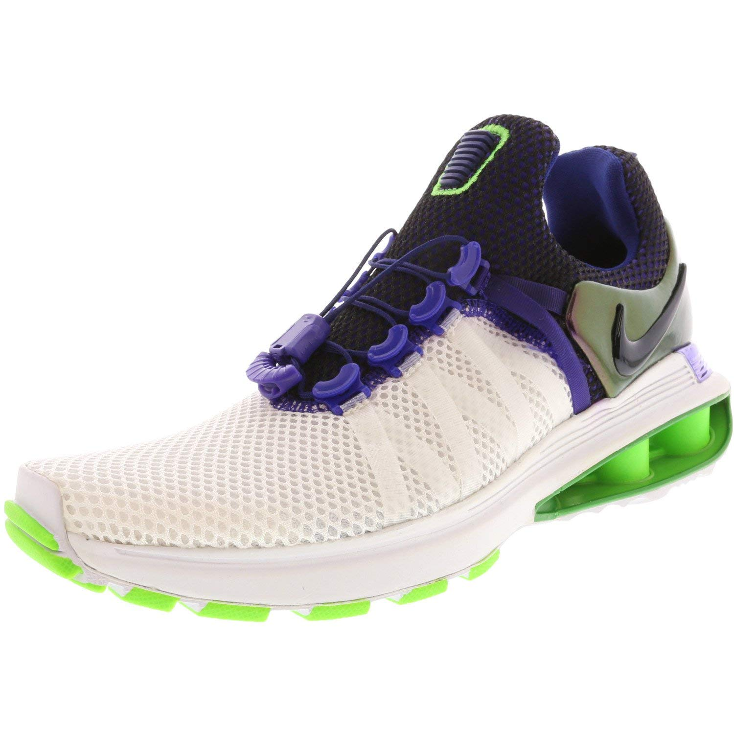 NIKE Women s Shox Gravity Running Shoes-White Fusion Violet-9.5
