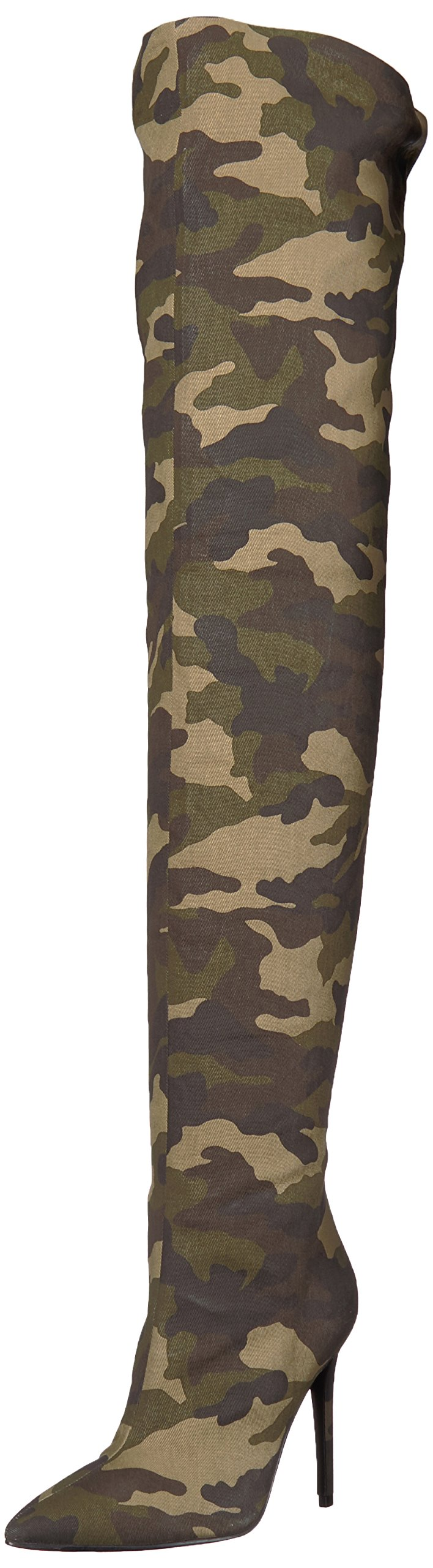 KENDALL + KYLIE Women's Alexx Fashion Boot, Camo, 9.5 Medium US