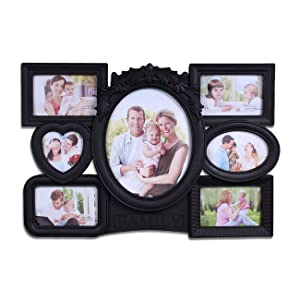 Art Street 'Magnificent Collage Quote' Photo Frame (Plastic, 146 cm x 114 cm x 2 cm, Black)