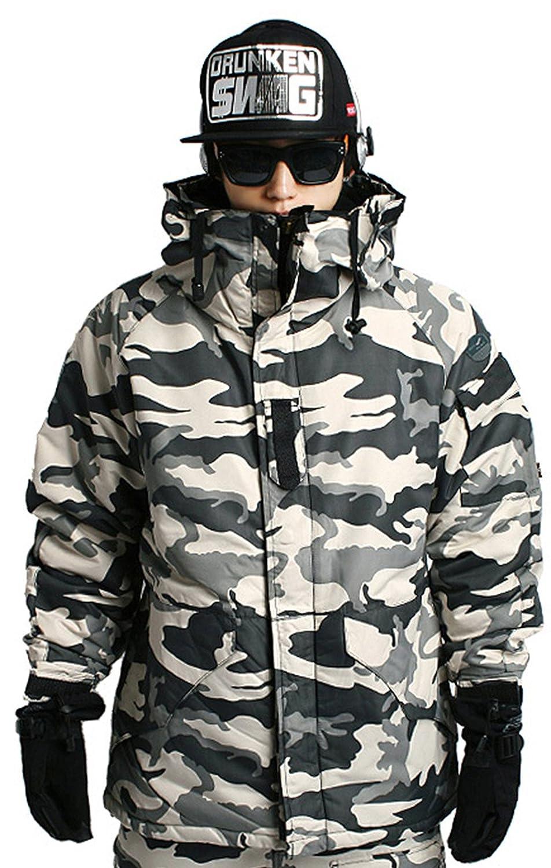 Mens SOUTH PLAY Waterproof Ski SnowBoard Wear Jacket Jumper CAMO