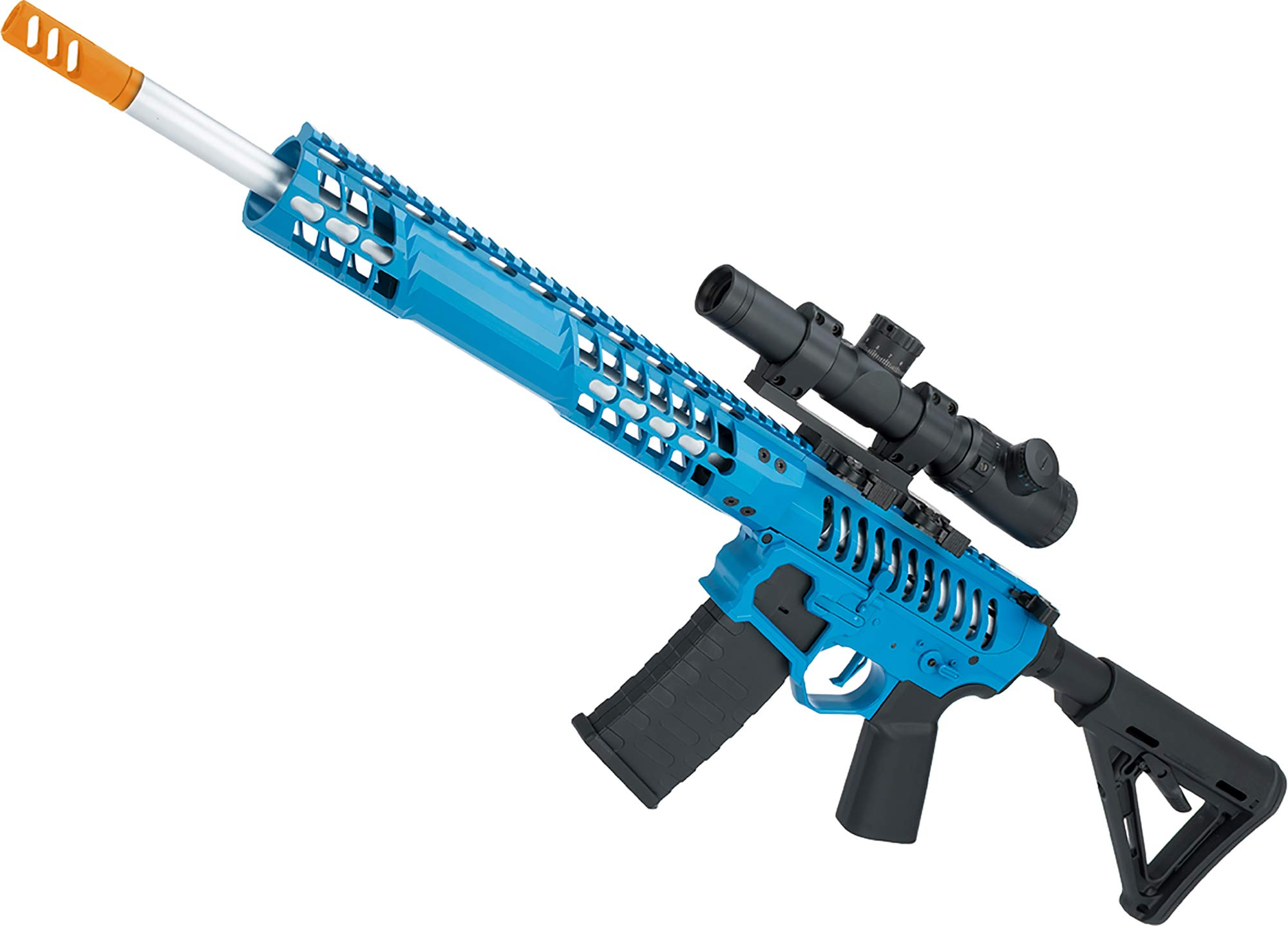 Evike EMG F1 Firearms BDR-15 3G AR15 Full Metal Airsoft AEG Rifle (Color: Blue Selector/Magpul MOE Stock) by Evike