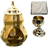 Wall1ders Brass Aroma Incense Camphor Burner Lamp