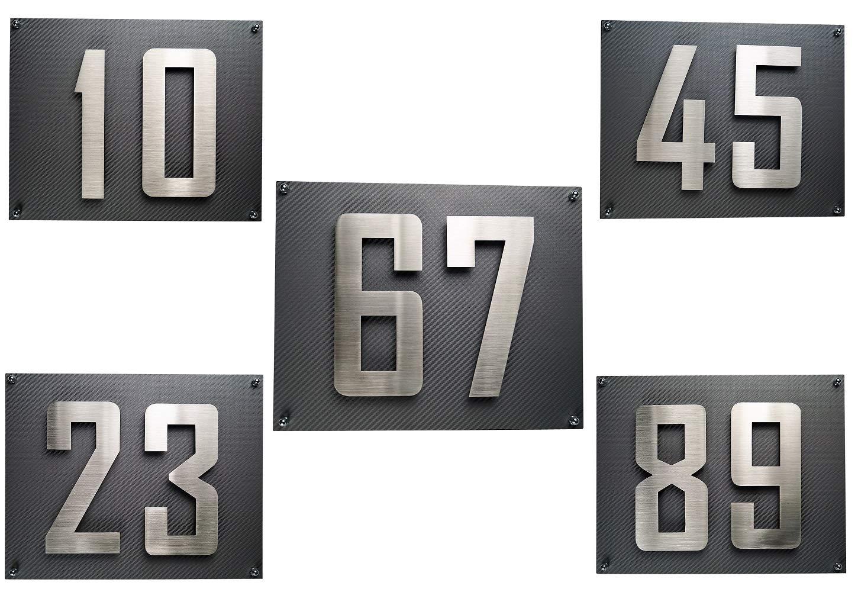 LED Hausnummer a Edelstahl V2A 3D H/öhe 18cm beleuchtet rostfrei mit Tranformator 220 Volt D/ämmerungssensor vollautomatisches An und Aus Patentiert erh/ältlich 0 1 2 3 4 5 6 7 8 9 a b c d