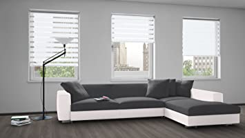 lauren taylor day and night roller blinds white 64x84