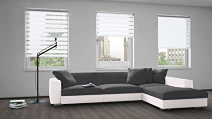LAUREN TAYLOR Day and Night Roller Blinds White 64x84: Amazon.ca ...