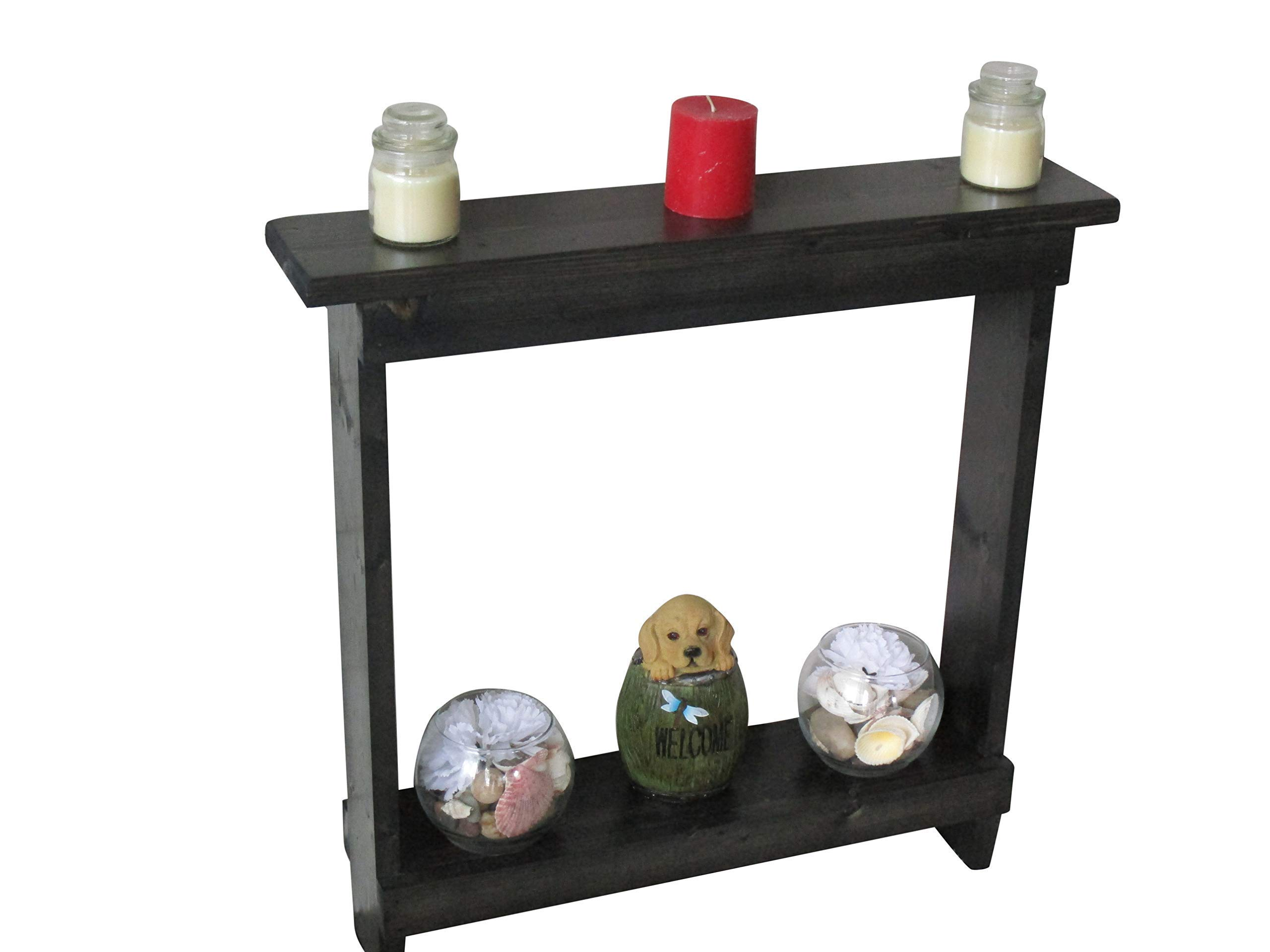 Small accent table Skinny Side Table Narrow End Table,Entryway Table, Rustic Wood Hall Table, Black Stain