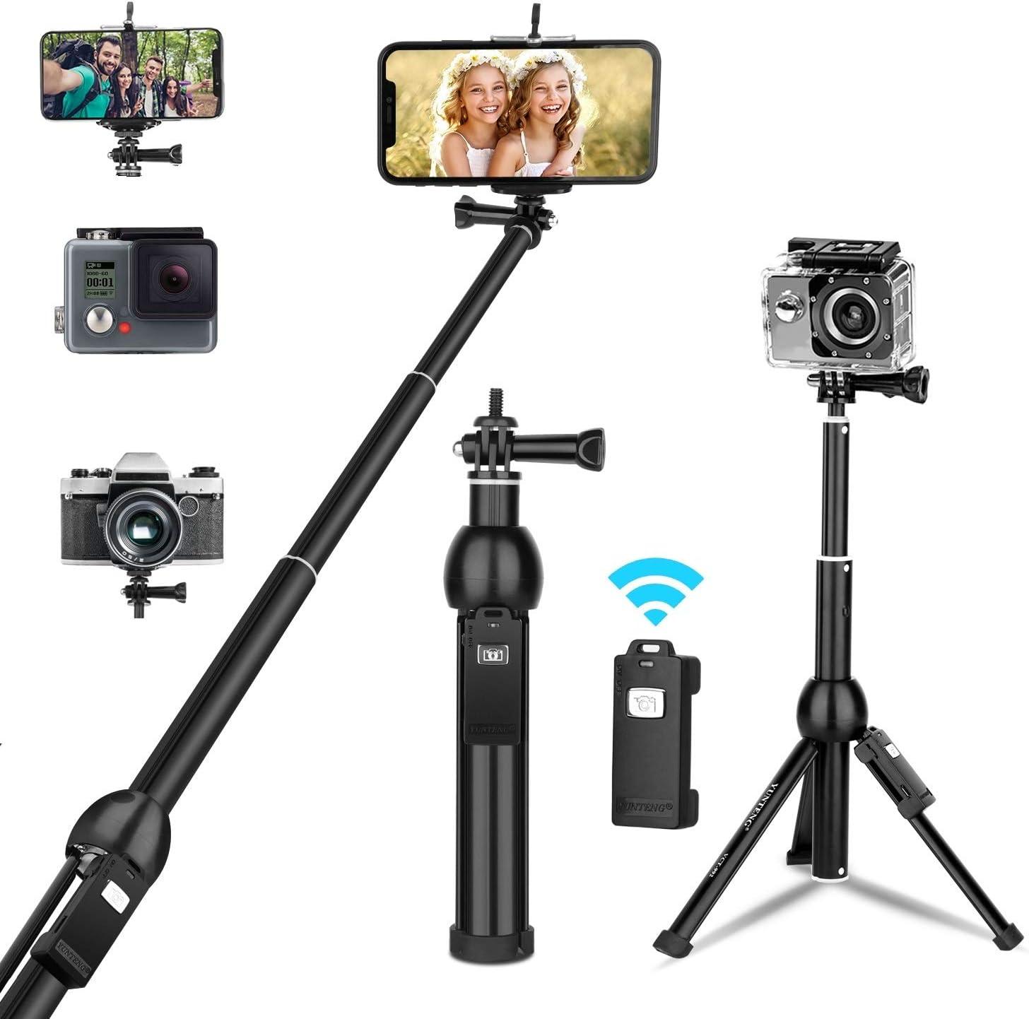 TAESOUW-Accessories Aluminum Tripod Flexible Portable Camera Tripod Stand Tripe with Ball Head for DSLR Camera Smartphones Color : Orange, Size : One Size