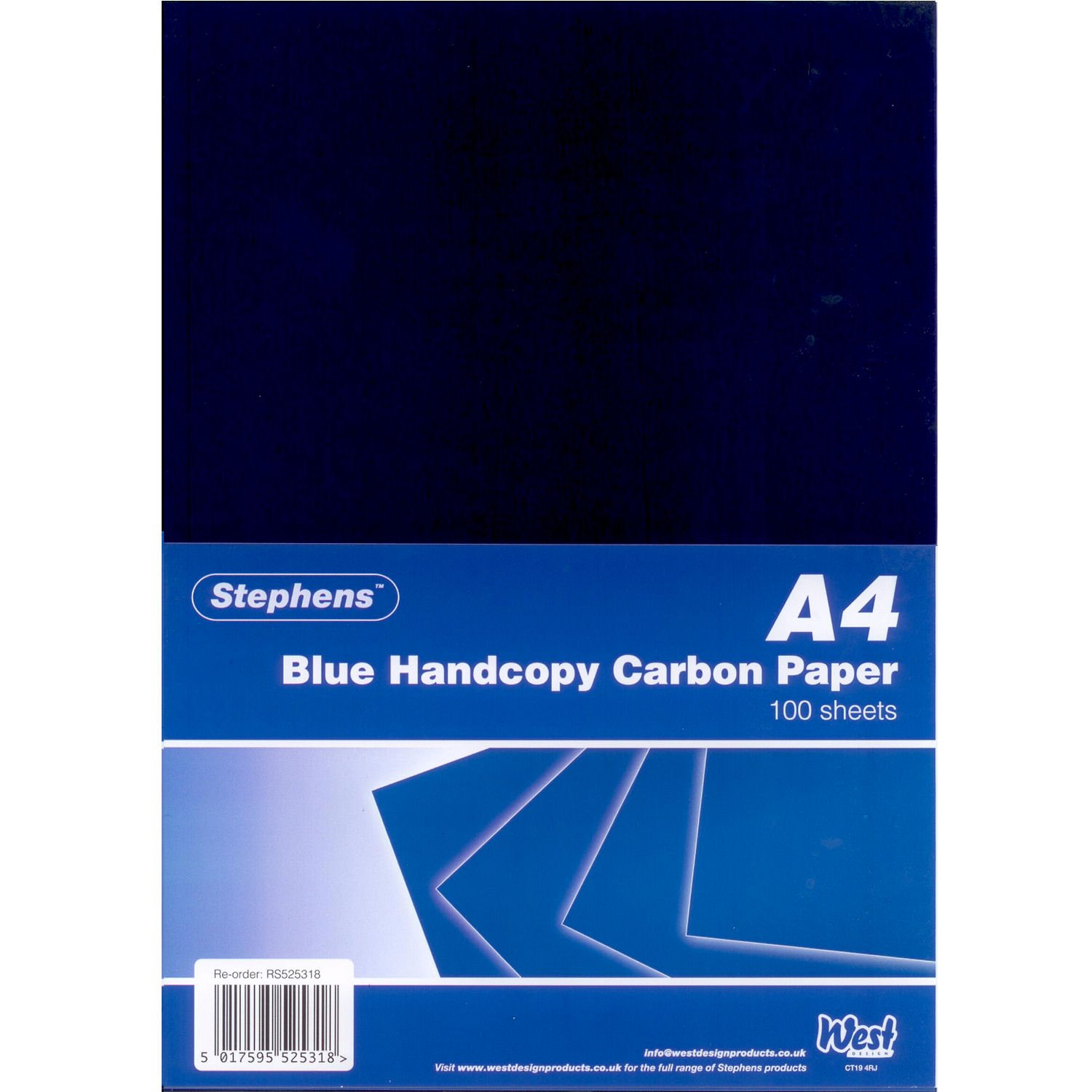 Stephens Handcopy Carbon Paper Blue A4 (100 Sheets) RS525318