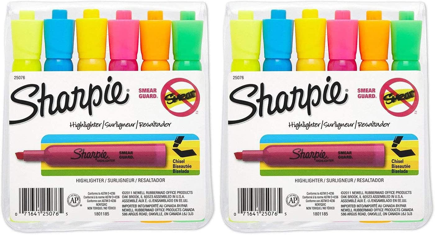 Accent Tank-Style Highlighters 4 Colored Highlighters