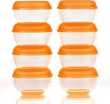 Vital Baby Press n Pop Mini Freezer Pots, Pack of 8: Amazon.es: Bebé