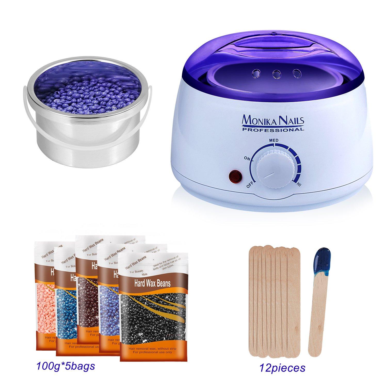 Best rated in hair waxing kits helpful customer reviews amazon wax warmer acepop hair removal waxing kit rapid melt wax home electric hot wax heater melting solutioingenieria Choice Image