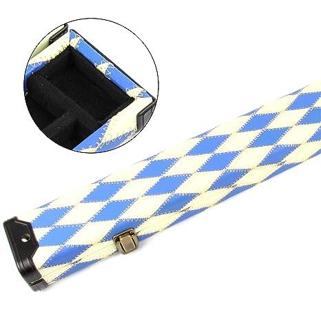 Excelente azul y blanco 3 diamantes/4 billar caso 116 Max - eje ...