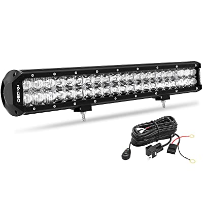 LED Light Bar, OEDRO 20Inch 200W 14210LM with Advanced10D Fish Eyes Lens, Spot Flood Combo Lights Bar with Wiring Harness IP68 Grade Work Lights Off Road Light Fit for Pickup Jeep SUV 4X4 ATV UTE etc: Automotive