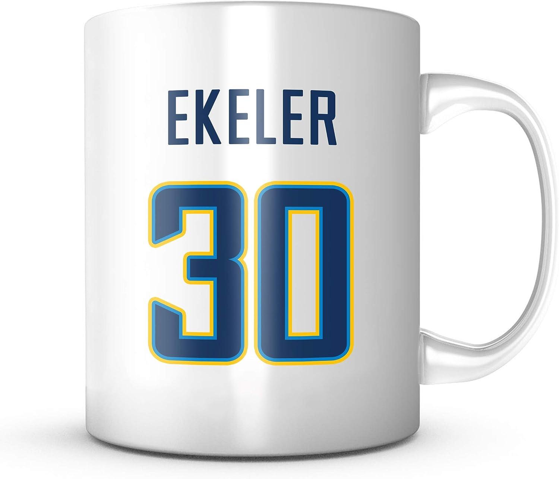 Austin Ekeler Mug - Los Angeles Football Jersey Number Coffee Cup 71-PUy91l2BL