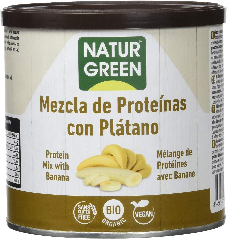 NaturGreen Mezcla de Proteínas en Polvo con Plátano -Pack de ...