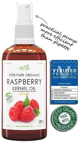 Frambuesa Aceite 100% del cuerpo y el pelo puro y orgánico, 100ml: Amazon.es: Salud y cuidado personal
