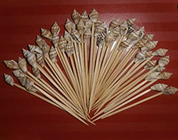 Elegant 100 Seashell Toothpicks For Beach Wedding Shell Tiki Bar Good Looking