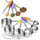 New Version! 11 Piece Measuring Cups And Spoons Set by Laxinis World | Sturdy Stainless Steel Stackable 6 Cups and 5…