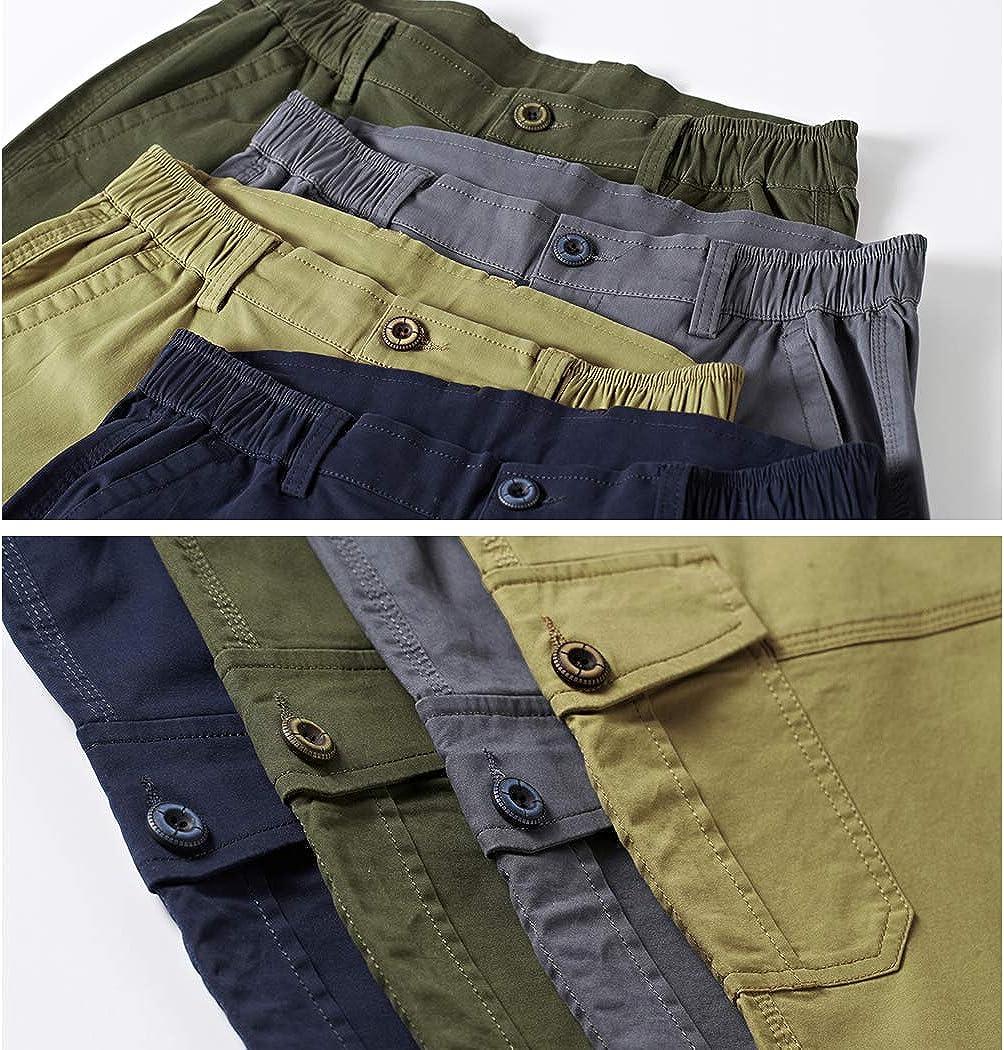 Novembers Chopin Mens Multi Pockets Outdoor Short Cotton Cargo Shorts for Men