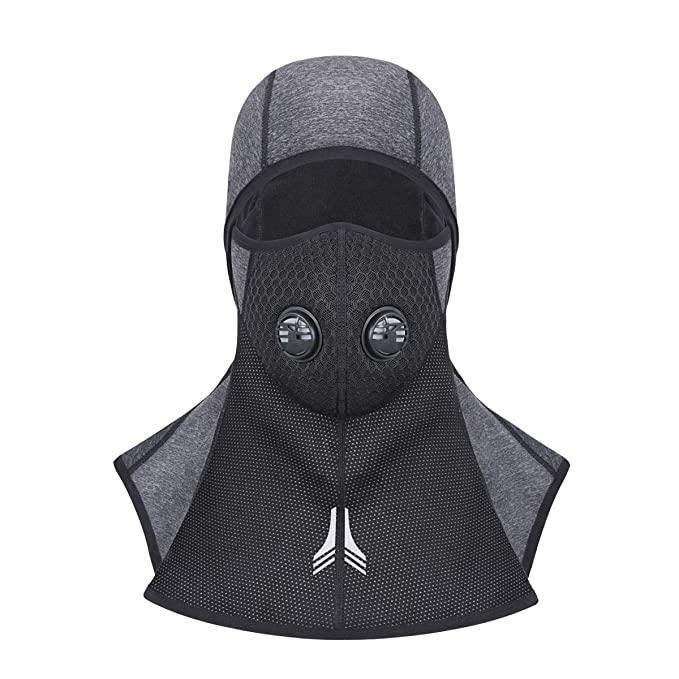 433e318ff198f WHEEL UP Windproof Ski Mask Versatile Thermal Winter Sports Balaclava  (Kirikage Grey (zipper)