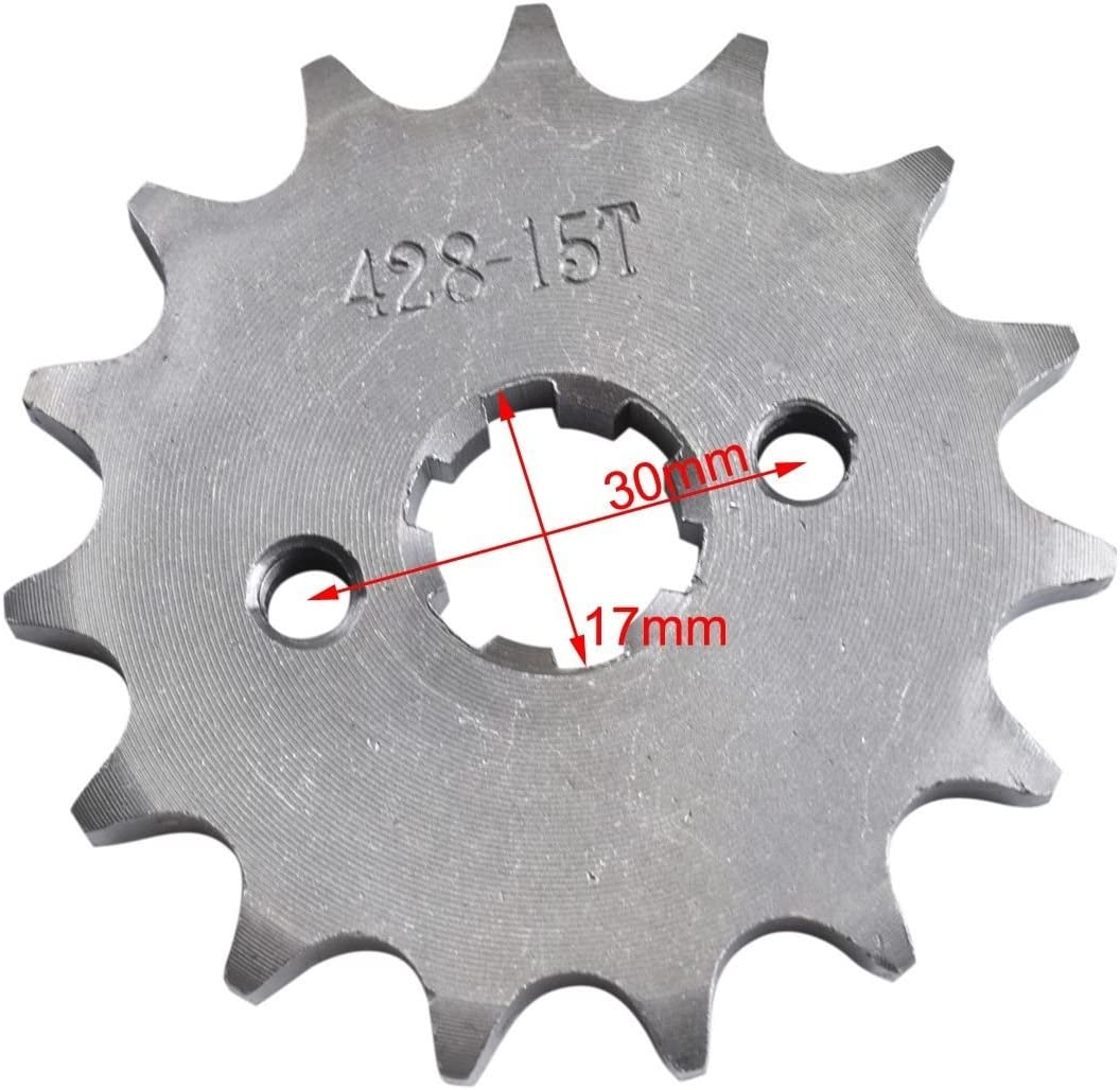 ZXTDR 17mm 428-15T Engine Sprocket for Dirt Pit Bike with 15-Teeth 428 Chain