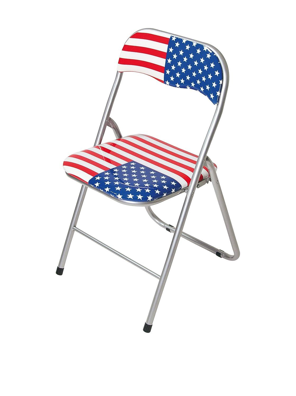 Trendyitalia 10683 Set 6 sedie Pieghevoli Stampa America GLSXC 10683_VARIANTEUNICA
