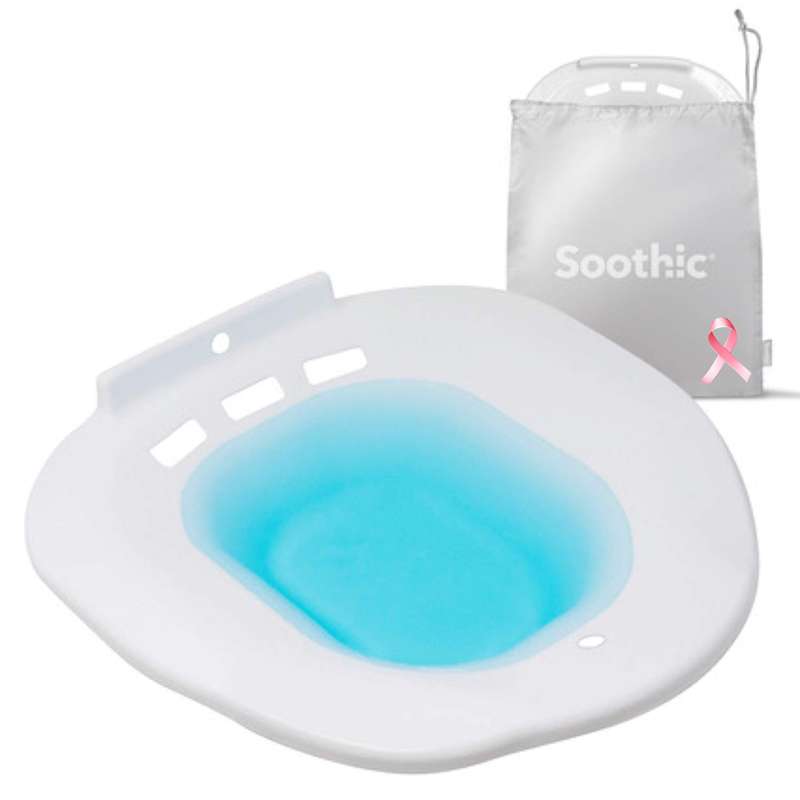 Soothic Sitz Bath for Toilet Seat, Ideal for Postpartum Care or Hemorrhoid Treatment, Yoni Steam Seat for Women, Limit Infection Risk, Reduce Inflammation, and Soothe Your Perineum