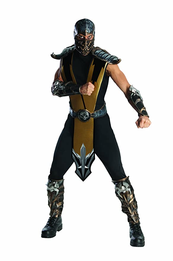 Amazon.com Rubieu0027s Mortal Kombat Scorpion Adult Costume Gold One Size Clothing  sc 1 st  Amazon.com & Amazon.com: Rubieu0027s Mortal Kombat Scorpion Adult Costume Gold One ...