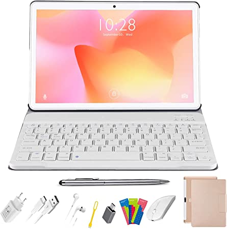 Tablet 10.1 Pulgadas, Android 10.0 - Ultrar-Rápido Tableta, 4GB RAM+64/128GB ROM, Quad-Core, 4G LTE, WiFi, GPS, 8000mAh, Netfilix-Certificación Google ...