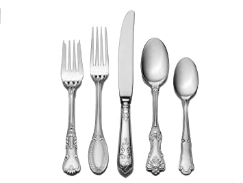 wallace hotel 77piece stainless steel flatware set service for 12 - Stainless Steel Flatware