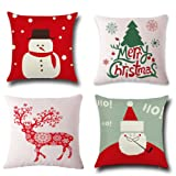 Amazon Price History for:Christmas Pillow Covers 4 Pack,BPFY Print Snowman,Christmas Tree,Christmas Deer,Santa Claus, Merry Christmas Decorative Sofa Throw Pillow Case Cushion Covers 18 X 18 Inch,Cotton Linen