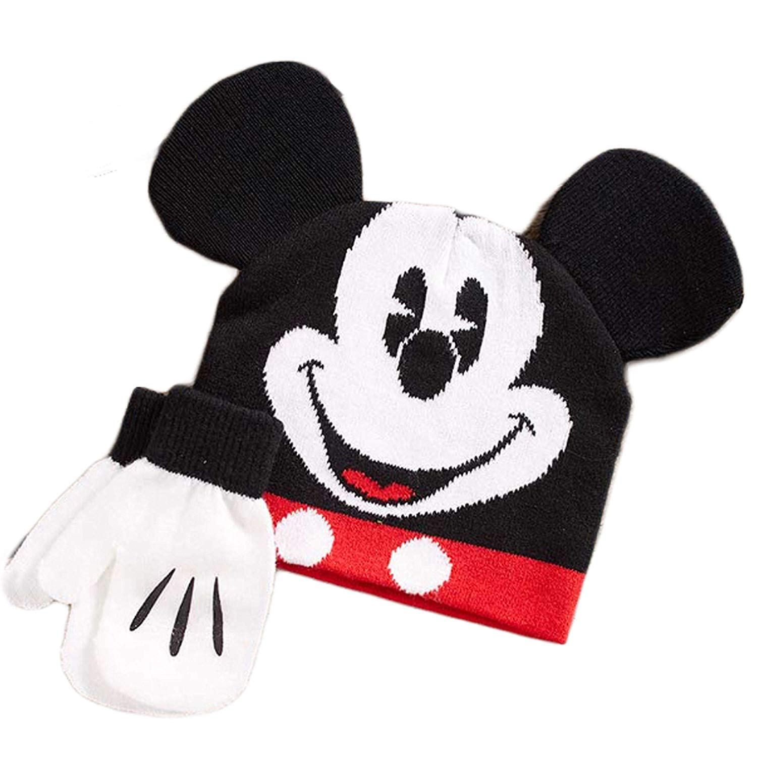 Mickey Mouse Baby Boys Toddler Winter Hat /& Mitten Set