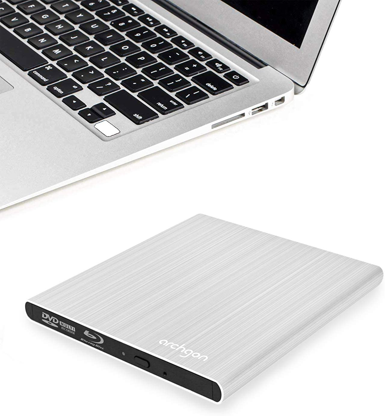 SEA TECH Aluminum External USB Blu-Ray Writer Super Drive for Apple MacBook Air, Pro, iMac