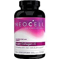 سوبر كولاجين + فيتامين سي من نيوسيل، نوع 1 و3 - 6000 ميلي غرام، 250 قرص