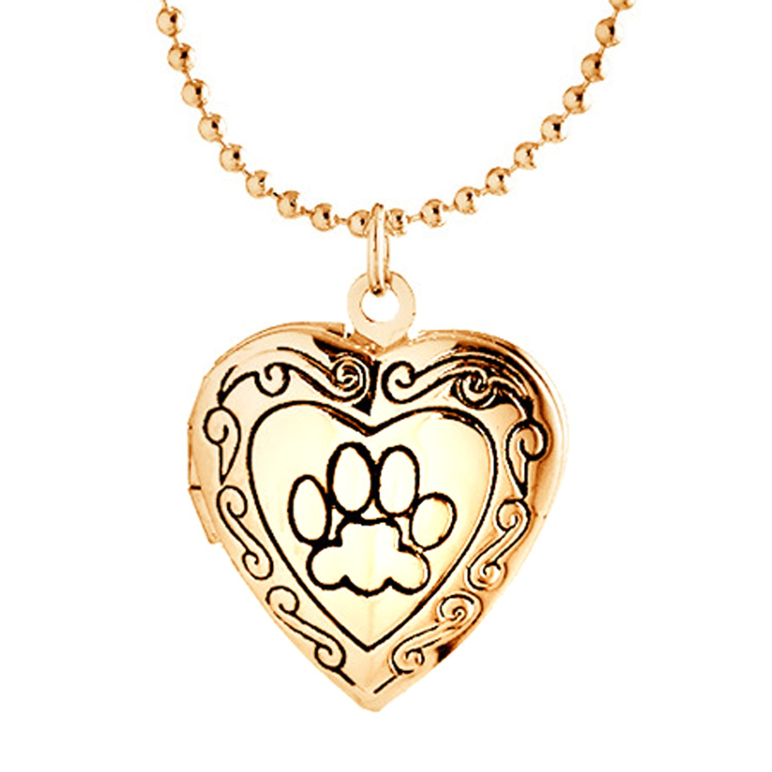 us floral girls pendant heart necklace locket s claire lockets shaped