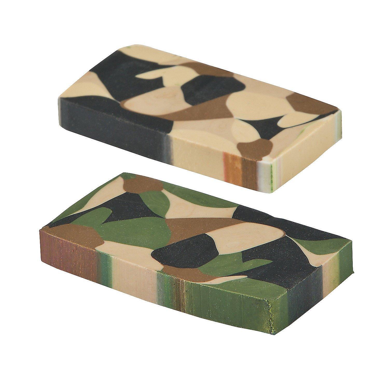 Camouflage Basic Erasers Rubber 24 Pack Fun Express Camo Eraser
