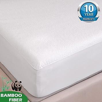 Tofern Protège Matelas Alèse Bambou 100% Imperméable Anti acariens