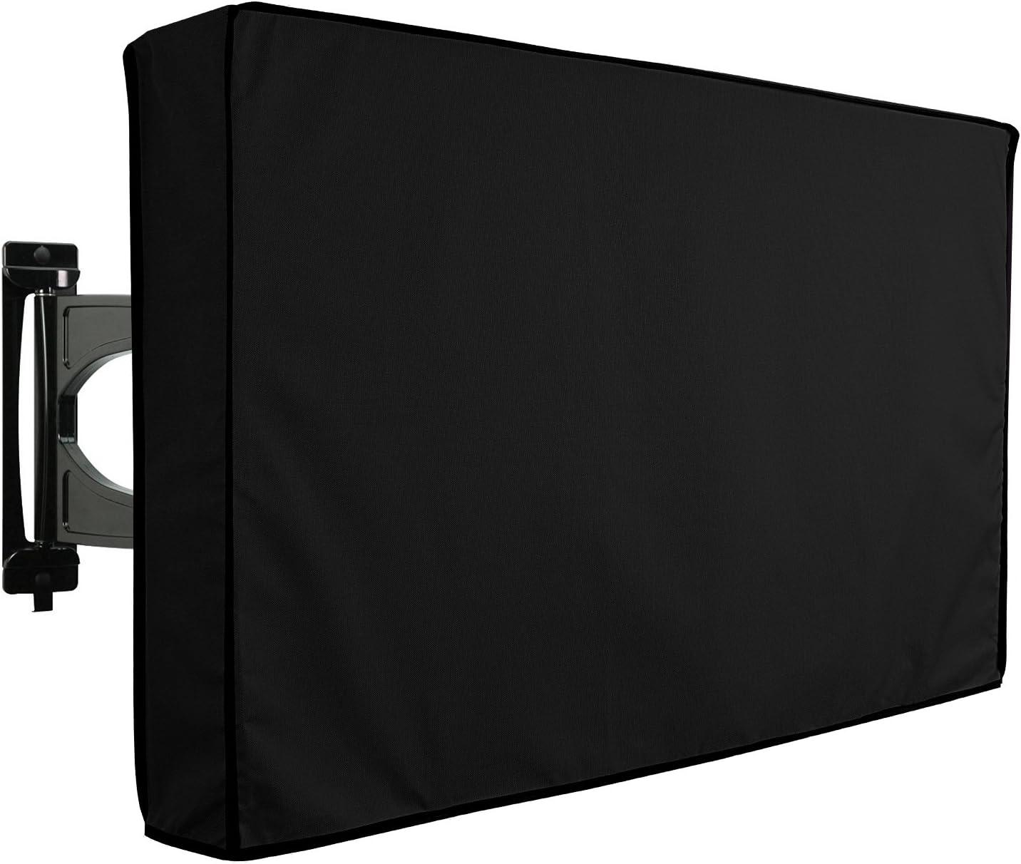 KHOMO GEAR VC-tv-cover-40-Black, Protector de pantalla para televisores de exterior, color negro, talla 40'' - 42''