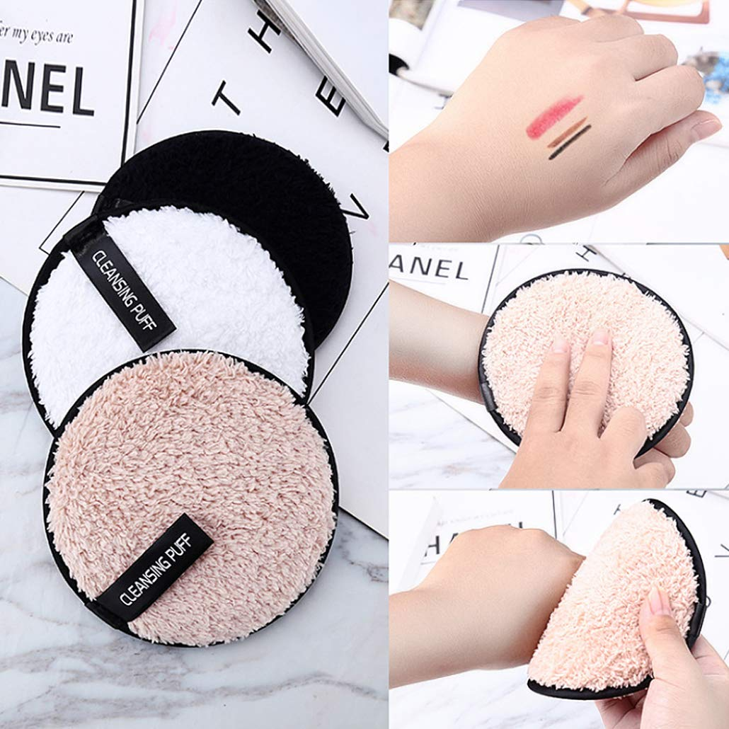 Nulala Makeup Remover Limpiador Puff, Esponja Facial Limpiador Esponjas Faciales Lazy Makeup Remover Cosmetic Puff Limpieza Esponjas Faciales: Amazon.es: ...
