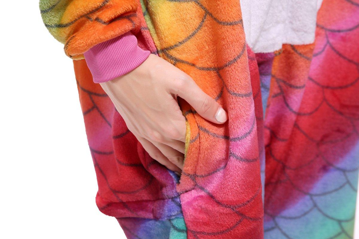 Blank King Unisex Unicorn Pajama Onesie Halloween Costume Cosplay (S, Mermaid-1) by Blank King (Image #5)