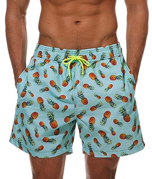Minetom Hombre Bañadores De Natación Pantalones Cortos Bermudas Shorts Verano Sport Moda Surf Calzoncillos Trajes De Baño Flamencos Imprimir