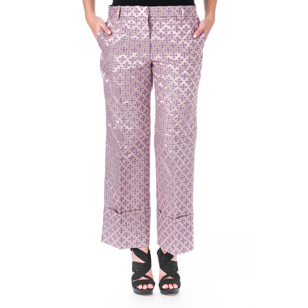 Elizabeth and James Womens Carson Tile Jacquard Casual Pants Purple 4