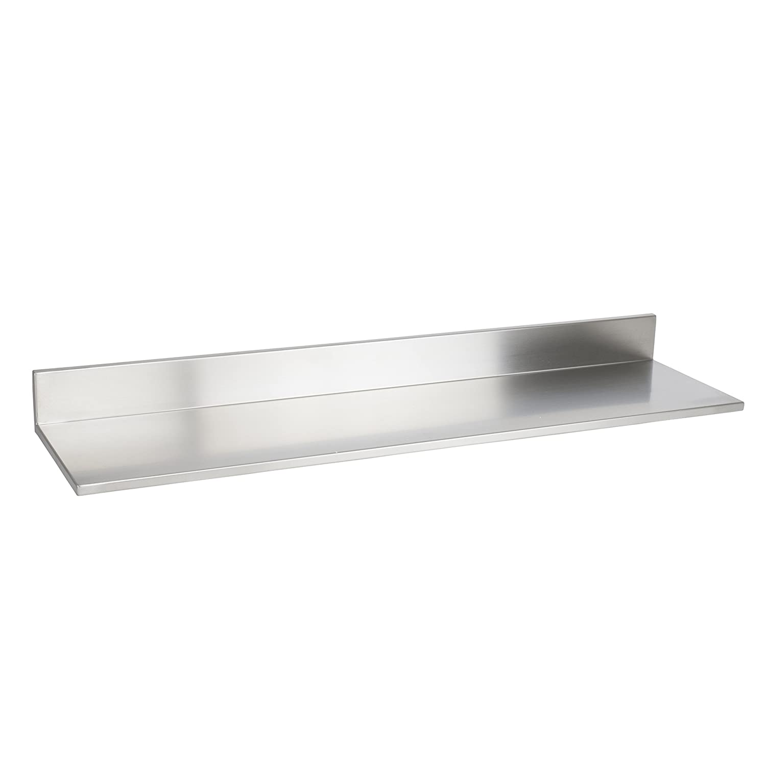 Durable Stainless-Steel Wall Mountable 30.5 Inch Kitchen Shelf for Restaurants Businesses and Eateries