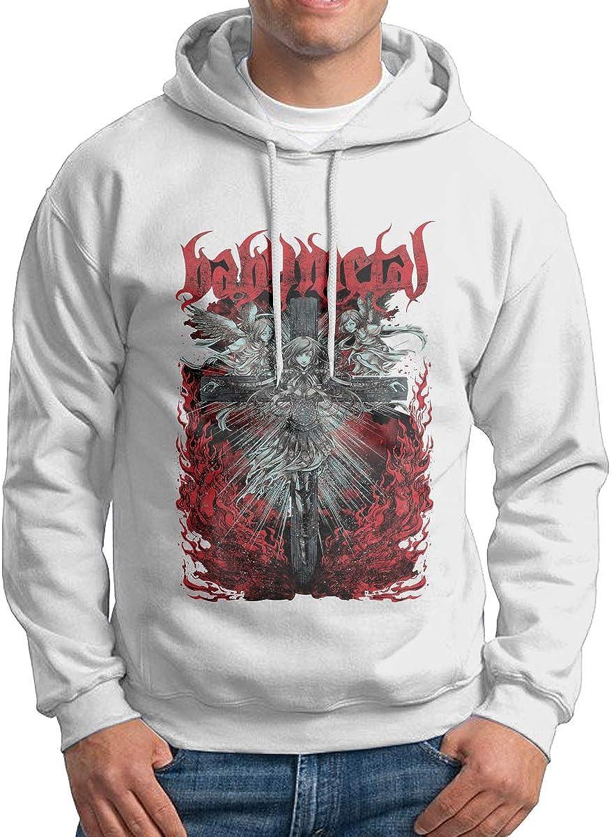 Mens Hoodie Sweatshirt Baby Metal Angel Doll Handsome Vintage Tops Sweater Pullover Black
