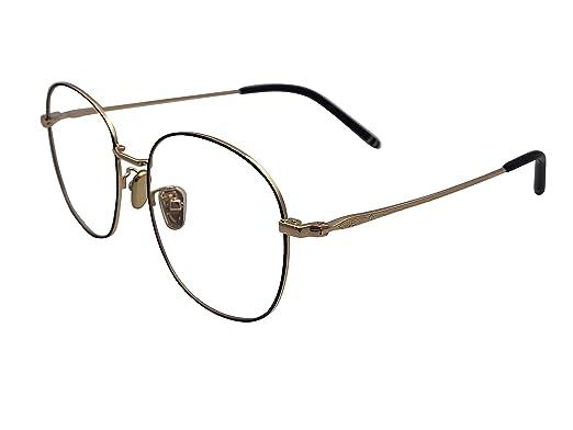 40e5e055438 XYAS Unisex Electroplated Round Front Woman Retro Glasses Frames Korean  Style 1505 (Black-gold