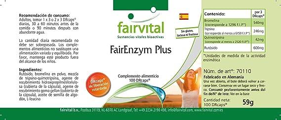 Enzimas Plus - digestivas - Altamente dosificado - 100 ...