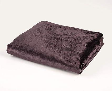McAlister Textiles Manta de Terciopelo Brillante, Ideal para ...