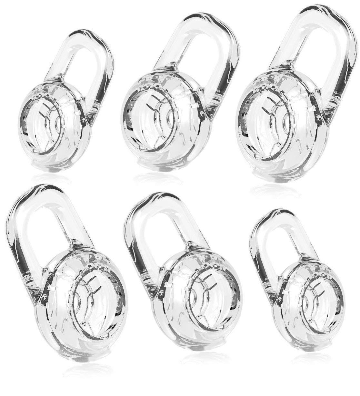 6 クリアS M L イヤーゲル PLANTRONICS ディスカバリー 925 975 ワイヤレス Bluetooth ヘッドセット イヤージェル バッド チップ イヤーゲル イヤーバッド イヤーチップ イヤホン シリコン 交換パーツ   B07PBSWSRC